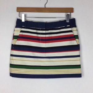 J. Crew Striped Mini Skirt Size 0